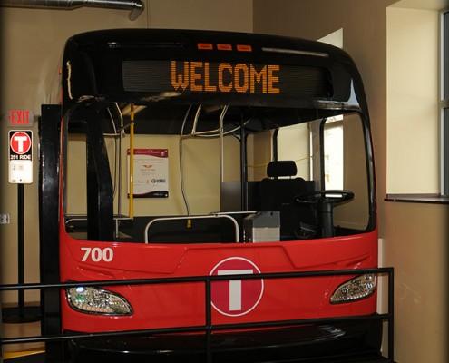 Metro Bus headquarters bus display